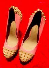 KG Kurt Geiger Hot Pink 'ESME' Spiked Platform Pump w/gold Stiletto Heel 38