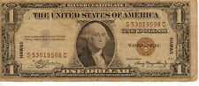 1935-A $1 Hawaii Overprint, Silver Certificate,  Medium Grade Note (P-25)