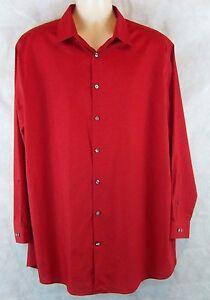 J .Ferrar Slim Fit Red Dress Shirt, XXL 18-18 1/2  Neck