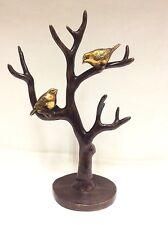 Vintage Chinese Bronze Tree Decoration With Bird / Jewelry Holder