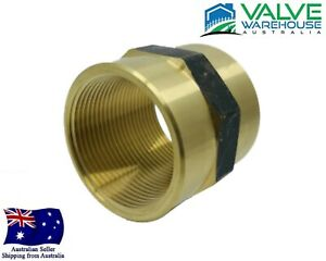 "Brass Female x Female - BSP Threaded Socket - 1/8"" Inch - 4"" Inch"