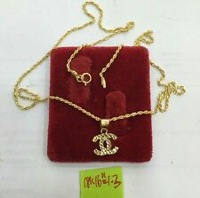 GoldNMore: 18K Gold Necklace & Pendant 16 inches chain