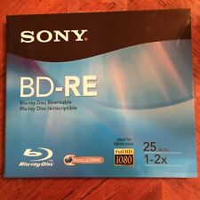 New Sony Blu-Ray Disc BD-RE 25 GB 1-2X Rewritable Sealed Package