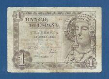 ESPAÑA // SPAIN -- 1 PESETA ( 1948 ) -- BC // F -- SERIE O ( ULTIMA SERIE ) .