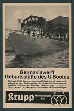 Krupp Germaniawerft U-Boot U 46 Dt. Werke Kiel Flugzeugträger Graf Zeppelin 1940