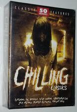Chilling Classics 50 Horror Movies Frankenstein Werewolf Driller Killer DVD Box