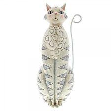 """Jim Shore Figurine """" Grey Cat - Grey Cat """" Garden Sculpture - 20544"""