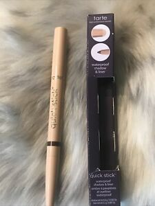 Tarte Quick Stick Waterproof Eye Shadow & Liner (matte Cream/aubergine ) *read