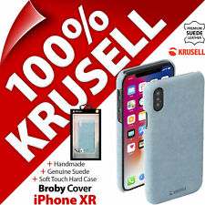 """Krusell GENUINE SUEDE LEATHER Broby Hard Case Cover for Apple iPhone XR (6.1"""")"""