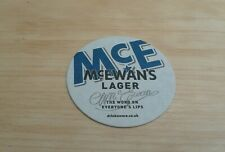 McEwan's Lager - The Word On Everyone's Lips - Beermat -  New