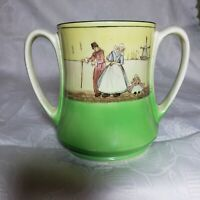 ANTIQUE ROYAL DOULTON SERIESWARE  DUTCH A HARLEM D1886 TWO HANDLED LOVING CUP