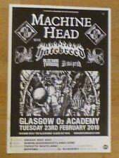 Machine Head + Hatebreed,Bleeding Through - Glasgow feb.2010 concert gig poster