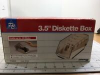"PC Accessories P11003 3.5"" Diskette Box Up To 40 Disks New Gemini III Beige"