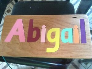 PERSONALIZED NAME PUZZLES 7 PIECE