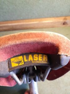 Vintage Classic 80'S Selle San Marco LASER  Red Suede Saddle