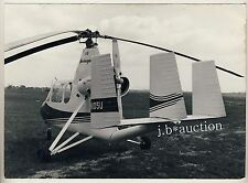 Hubschrauber FLYMOBIL U 18 Mini Helicopter Flugschau Hannover * Presse-Foto 1962