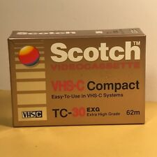 Scotch Vhs-C Compact Videocassette Camcorder Tape Sealed New Tc-30 Vhsc 62M Exg