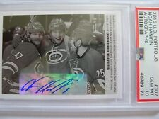 15-16 UD PORTFOLIO ROOKIE WIRE PHOTO AUTO NOAH HANIFIN, No.302, PSA 10 GEM MINT