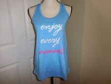 WOMEN'S FITNESS RACERBACK TANK TOP GYM APPAREL WORK OUT ACTIVE WEAR ~ LARGE