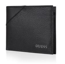 Guess Wallet Men WG04/22X003 Passcase billfold Black Cowhide Leather Authentic