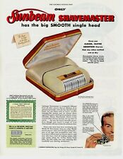 1955 ORIGINAL VINTAGE SUNBEAM ELECTRIC SHAVEMASTER MAGAZINE AD