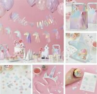 Iridescent UNICORN Birthday Party Decorations Banners Garlands Balloons