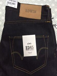 Edwin Jeans ED 77 Slim DUSTER USED W31//L34 DARK BLUE
