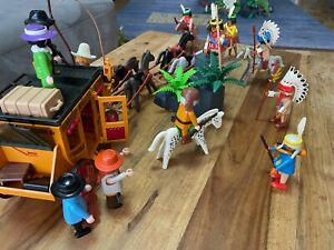 Playmobil 3803 Postkutsche Überfall Indianer Western