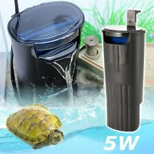 Aquarium Turtle Internal Filter Low Level Water Amphibian Frog Fish Tank Reptile