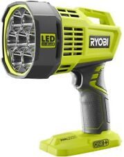 Ryobi LED Spotlight Flashlight Work Light 18V Cordless Lithium Ion Dual Powered