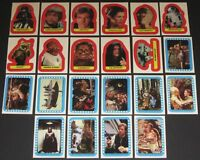 Star Wars - Jedi Series 2 -  Complete 22 Card Sticker Set - 1983 Topps - NM