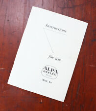 Alpa 6C Instruction Book/cks/204785