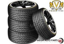 4 Vogue Custom Built Radial VIII 245/40R18 97V XL White/Gold Sidewall Tires
