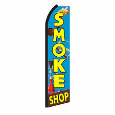 SMOKE SHOP Advertising Sign Swooper Feather Flutter Banner Flag Only