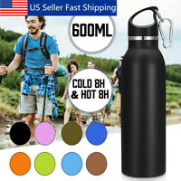 Water Bottle Stainless Steel Vacuum Outdoor Sport Insulated Flask Hot & Cold USA