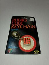 VINTAGE IDEAL RUBIK'S CUBE KEYCHAIN PUZZLE NEW ON CARD