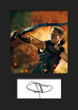 JEREMY RENNER (HAWKEYE) #2 A5 Signed Mounted Photo Print - FREE DELIVERY