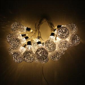 20 Festoon LED Lights - 32ft Warm White, Indoor & Outdoor, Waterproof