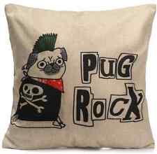 Funny Cute Pug Cushion Pug Rock