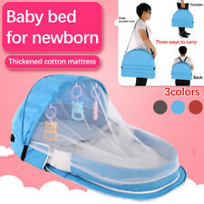 Newborn Travel Baby Bed Sunscreen Mosquito Net With Portable Crib Baby Folding