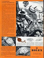 1954 Rolex Oyster Perpetual Watch Advert A Rapporter Contre Recompense Swiss Ad