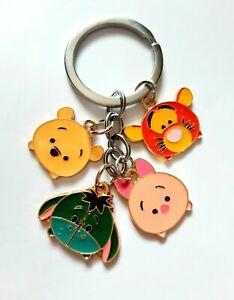 Winnie The Pooh Tsum Piglet Tigger Eeyore Disney Theme Keyring Keychain Gift UK