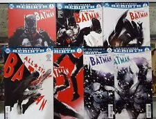 Set of 7 ALL STAR BATMAN Jock Covers - #1 2 3 4 5 6 6 (Variant) - DC Rebirth @