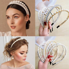 2021 New Women Elegant Full Pearl Sweet Headband Hair Hoop Fashion Accessories