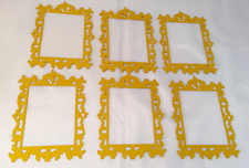 Tim Holtz  Die Cuts: Ornate Frame #2 * Gold Cardstock * Six Frames!