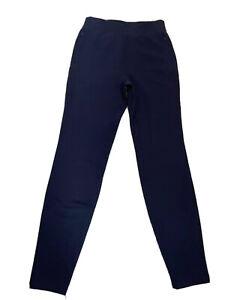 lululemon blue 100% cotton zip pockets womens jogger pants Size 4