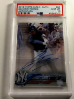 GLEYBER TORRES 2018 TOPPS #GT CLEARLY AUTHENTIC ACETATE AUTO ROOKIE RC PSA 10
