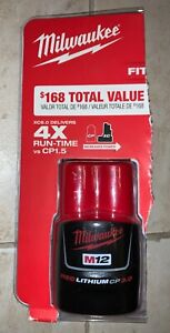 New Milwaukee M12 REDLITHIUM 48-11-2430 CP3.0 3.0 Ah Compact Battery Pack