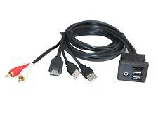 A4A Car Dash Mount Installation HDMI Dual USB RCA Male Female Extension Cable 1M