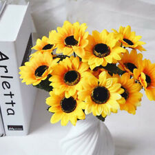 1 Bouquet 7 Heads Artificial Fake Sunflowers Flower Floral DIY Home Garden Decor